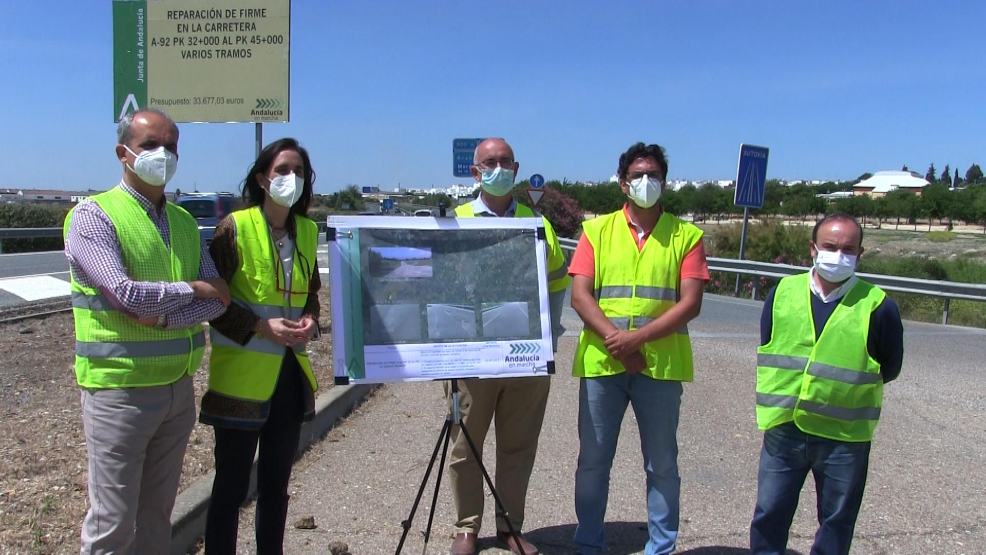 Rueda de Prensa: Obras autovia A92 Arahal 2021