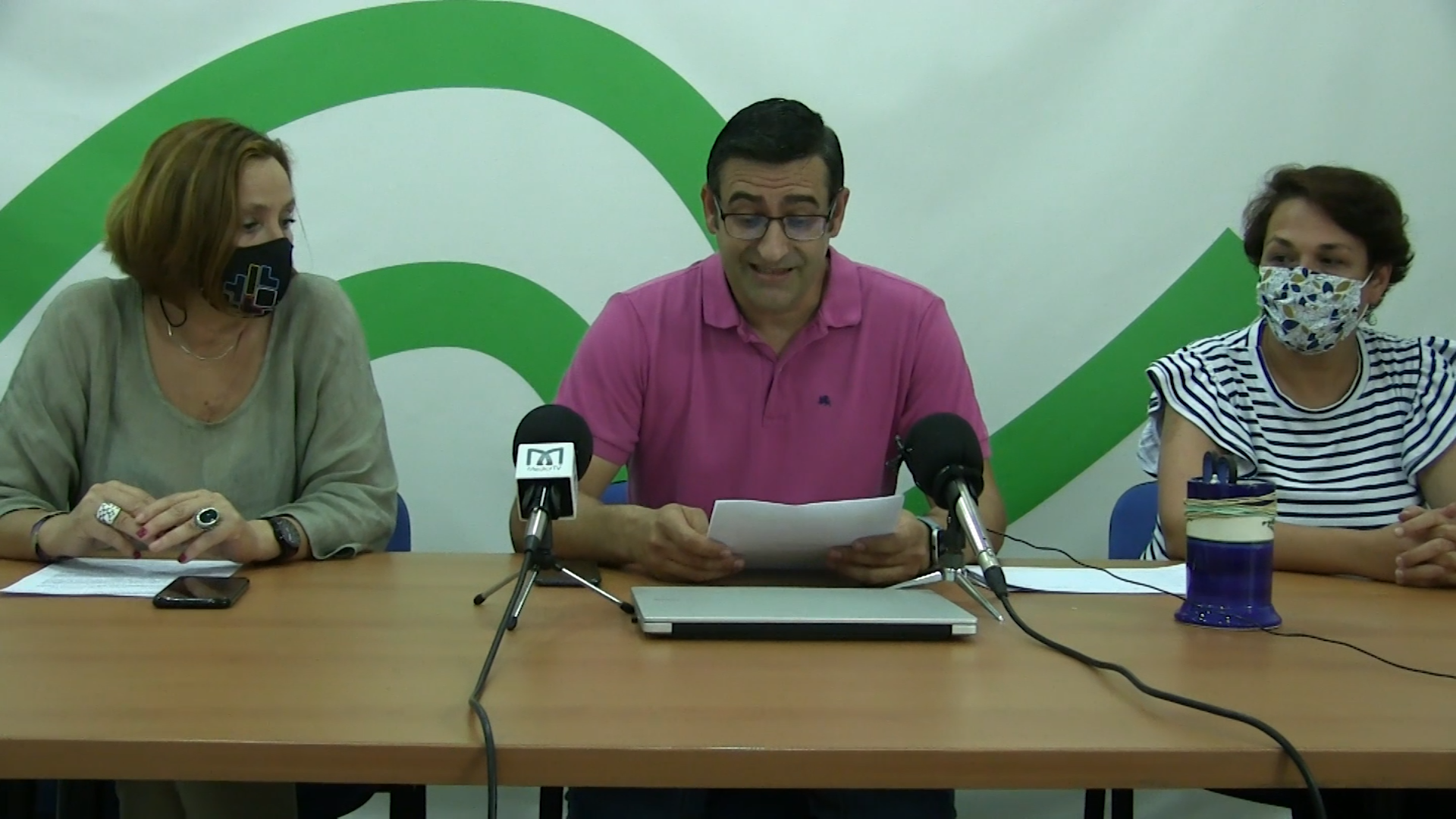 Rueda de prensa Izquierda Unida Arahal – Accidente portavoz PP