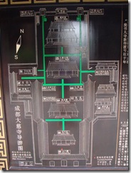 Daci Temple, Chengdu: site map