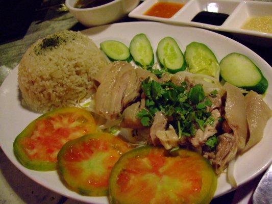 『新加坡海南雞飯』~單點$120大洋~