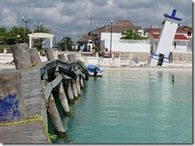 l'Ancien quai de Puerto Morelos